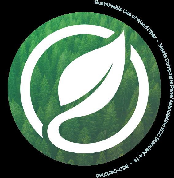 Sustainable use of wood fiber, meets composite panel association ECC standard 4-19, eco-certified
